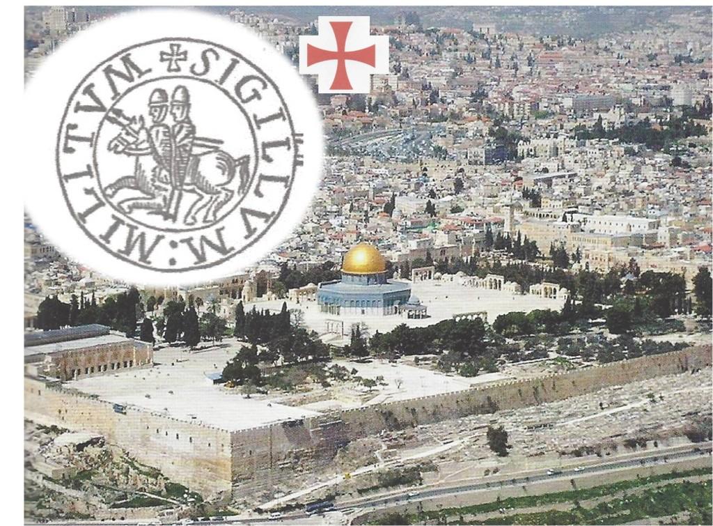 Spianata del tempio di Gerusalemme: quartier generale dei Milites e la Cupola  della Roccia; SIGILLUM MILITUM