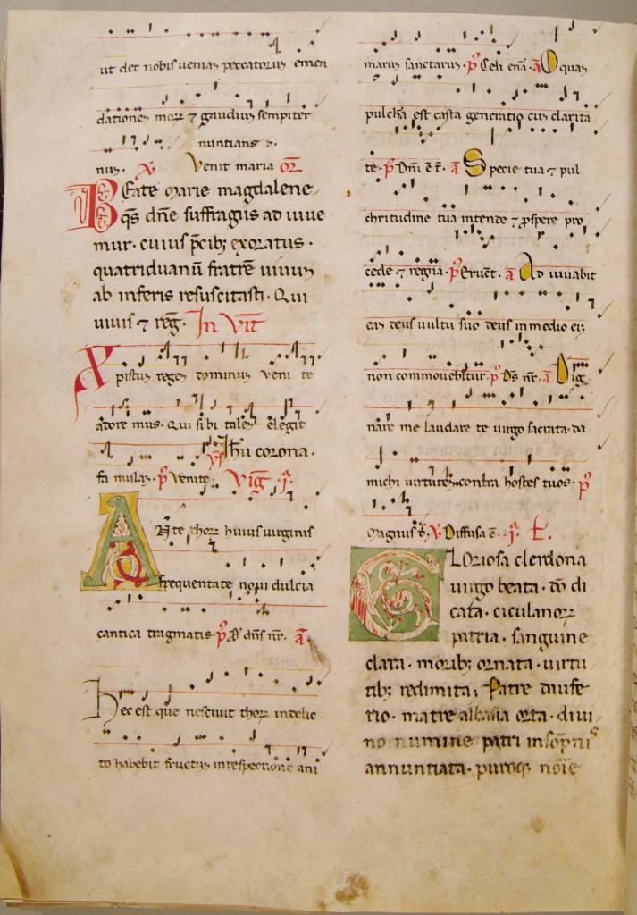 Lezionario, ms. S. Scol. 24, S. Chelidonia