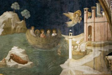 Basilica Inferiore di Assisi, Cappella della Maddalena, Giotto di Bondone - Scene dalla Vita di santa Maria Maddalena: approdo a Marsiglia (intorno al 1320)